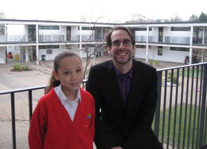 Me and Jasmin at Wembley Primary