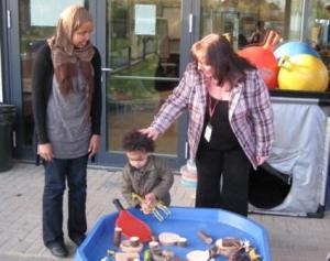 Sharon meets Children's Centre users