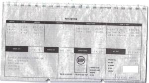 One of my payslips from the Walkers factory: £223 for a 62 hour week!