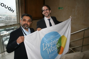 Launching Brent Council's Living Wage campaign with Cllr Muhammed Butt