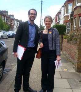 Me with Yvette Cooper, my choice for Labour Leader