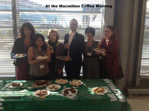 At the Macmillan Coffee Morning